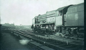 An LMS Royal Scot 4-6-0 negotiates Crewe Junction.