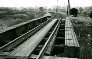 The bridge that took the Potts over the Severn Valley line, looking east.